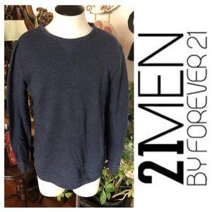 21 MEN Blue Sweatshirt